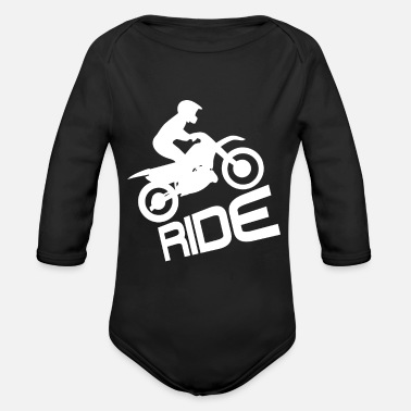 Motorcycle Ride Motorcycle Motorbike Biker Motor Bike - Organic Long-Sleeved Baby Bodysuit