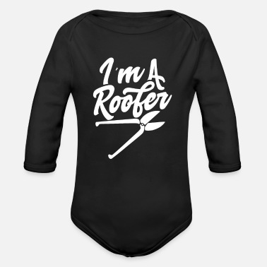 Roof Roofs Roof Roofing Roofer Team - Organic Long-Sleeved Baby Bodysuit
