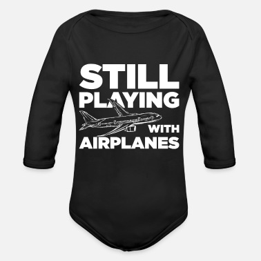 Flying Airplanes Flying Airplanes - Organic Long-Sleeved Baby Bodysuit