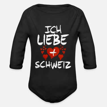 Swiss Switzerland Swiss Gift Idea - Organic Long-Sleeved Baby Bodysuit