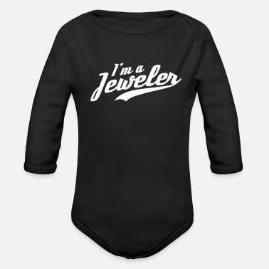 Jewel Goldsmith Jewel Jeweler Jewelers Team - Organic Long-Sleeved Baby Bodysuit