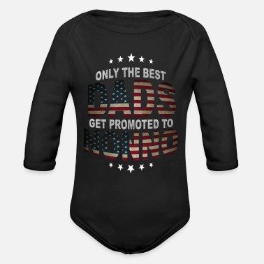 Grandad Only The Best Dads Get Promoted To Nonno - Organic Long-Sleeved Baby Bodysuit