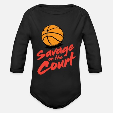 Court Savage on the court - Organic Long-Sleeved Baby Bodysuit
