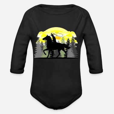 Western Riding Western Riding, Western - Organic Long-Sleeved Baby Bodysuit