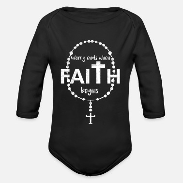 Cool Christian Faith - Religious Christian - Church Mass - Organic Long-Sleeved Baby Bodysuit