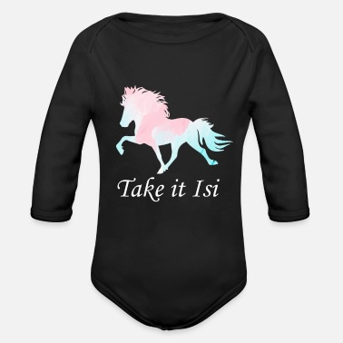 Take Take it Isi Iceland horse - Organic Long-Sleeved Baby Bodysuit
