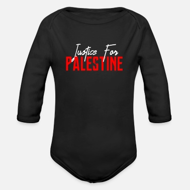 Occupy Justice For Palestine - Stop Killing Palestinian - Organic Long-Sleeved Baby Bodysuit