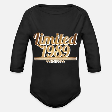 Since Limited 1989 Edition - Birthday Design - Organic Long-Sleeved Baby Bodysuit