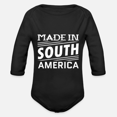 Region Made In South America - Organic Long-Sleeved Baby Bodysuit