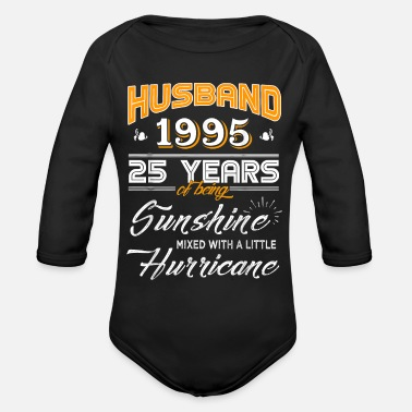 Husband 1995 Gift 25 Years Wedding Anniversary - Organic Long-Sleeved Baby Bodysuit