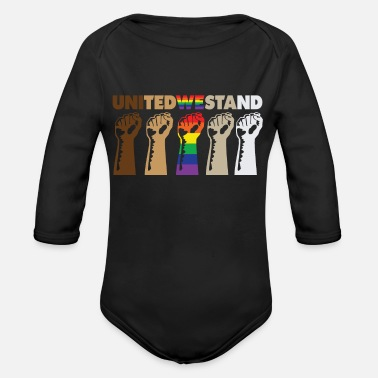 Stand United We Stand Black Lives Matter LGBT Gay Pride - Organic Long-Sleeved Baby Bodysuit