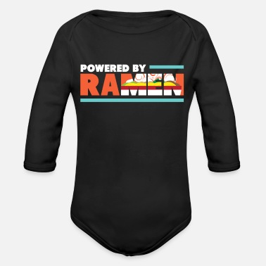 Poor Powered By Ramen I Asian Noodle Soup Food - Organic Long-Sleeved Baby Bodysuit