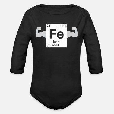 Coder Iron - nerdy and geeky gift - Organic Long-Sleeved Baby Bodysuit