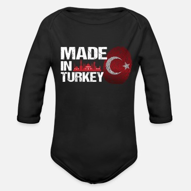 Turkey Turkey Shirt Gift Idea - Organic Long-Sleeved Baby Bodysuit