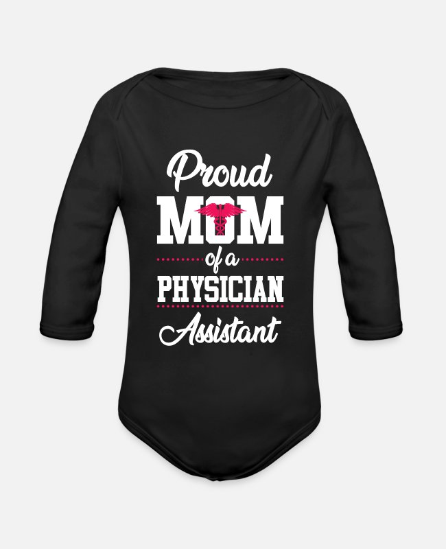 Cma Baby One Pieces - physican Assistant Mom Cma physican Assistant Gift - Organic Long-Sleeved Baby Bodysuit black