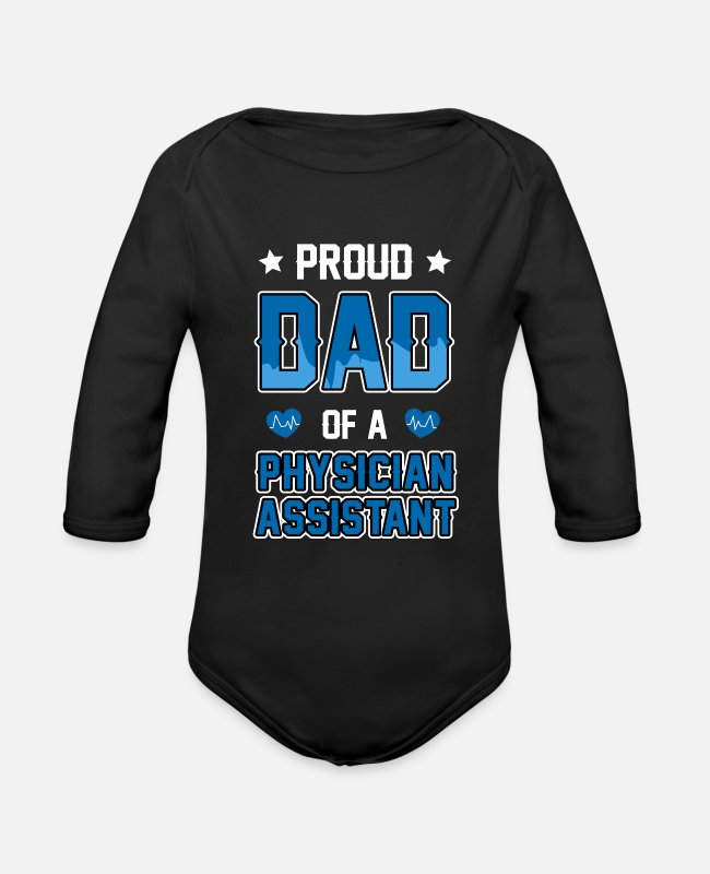 Cma Baby One Pieces - physican Assistant Dad Cma physican Assistant Gift - Organic Long-Sleeved Baby Bodysuit black