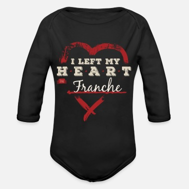 Home Country I Left My Heart In Franche Pride - Organic Long-Sleeved Baby Bodysuit
