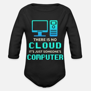 Computer Tech Cloud Computer | Tech - Organic Long-Sleeved Baby Bodysuit