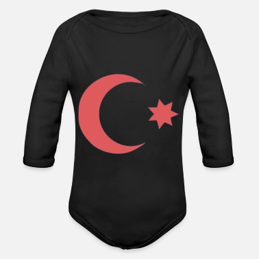 Ottoman Empire - Country Flag - Sultan Dynasty - Organic Long-Sleeved Baby Bodysuit