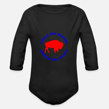 Circle The Wagons Buffalo - Organic Long-Sleeved Baby Bodysuit