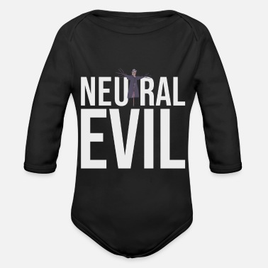 Neutral Evil - Scarecrow Graphic Text - Roleplay - Organic Long-Sleeved Baby Bodysuit