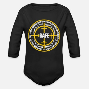 Work Safety Time Of Safety Artwork - Organic Long-Sleeved Baby Bodysuit