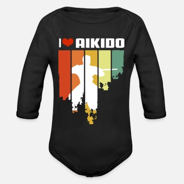 Hobby Cook I Love Aikido Retro Edition - Organic Long-Sleeved Baby Bodysuit