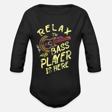 Basshead Bass Guitarist Bassplayer Guitar EADG Musik - Organic Long-Sleeved Baby Bodysuit