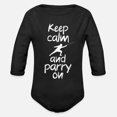 Parry Keep calm and parry on - Organic Long-Sleeved Baby Bodysuit