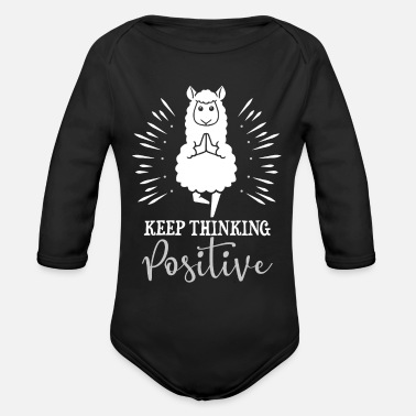 Goa Yoga Lama Alpaca Lamas Meditation - Organic Long-Sleeved Baby Bodysuit