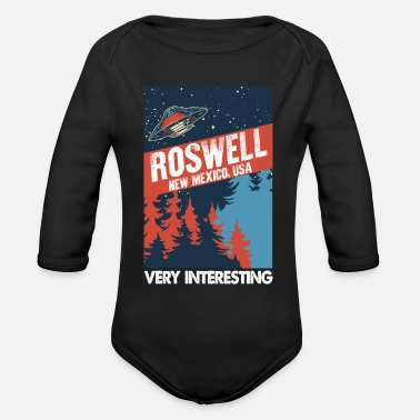 Apollo 11 Very Interesting Roswell New Mexico USA Conspiracy - Organic Long-Sleeved Baby Bodysuit