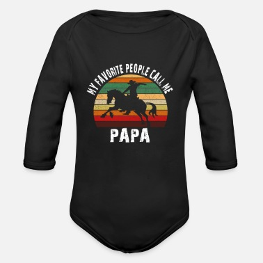 My Favorite people call me PAPA - Organic Long-Sleeved Baby Bodysuit