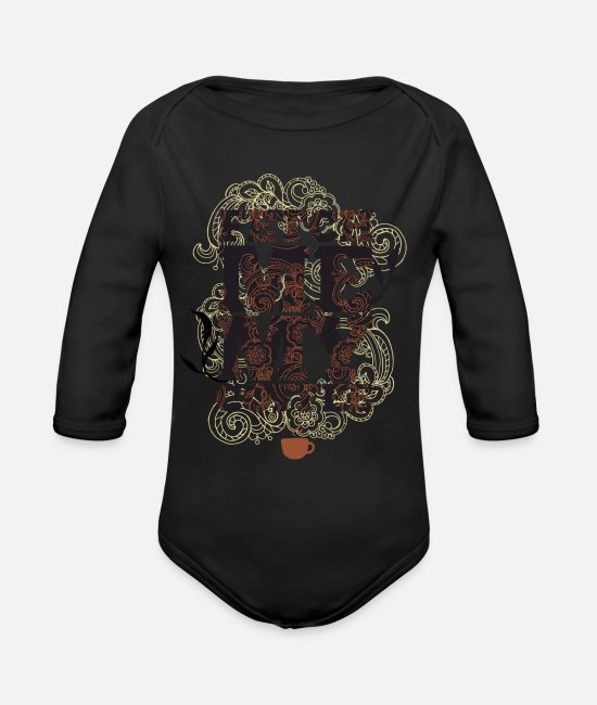 Rotterdam Baby One Pieces - coffee T Shirt - Organic Long-Sleeved Baby Bodysuit black