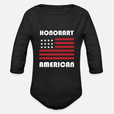 Foreign Word Gift For Foreign Exchange Students Funny Honorary - Organic Long-Sleeved Baby Bodysuit