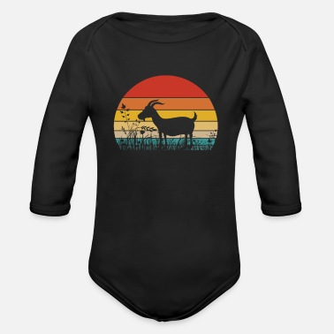 Billy Goat Goat Farmer Farm Goat Lover Gift - Organic Long-Sleeved Baby Bodysuit