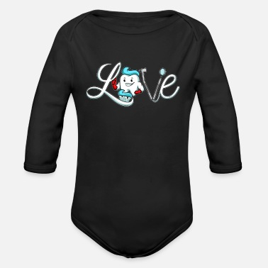 Dental Nurse Dentist Dental Assistant Hygienist Nurse Dentistry - Organic Long-Sleeved Baby Bodysuit