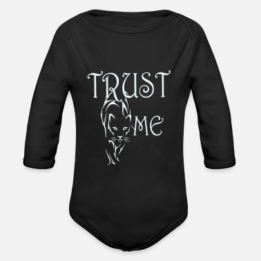 Aggressor Trust me wild Panther Jaguar Leopard Cheetah - Organic Long-Sleeved Baby Bodysuit