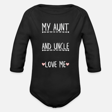 Baby Shower Put Your Name Here -My Aunt and Uncle Love Me - Organic Long-Sleeved Baby Bodysuit