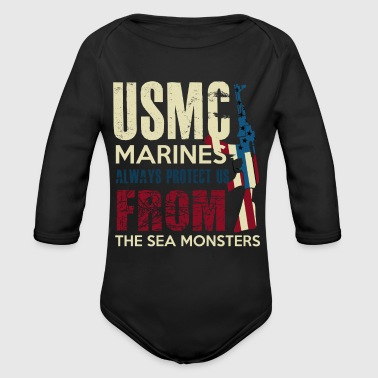 MARINES - Organic Long Sleeve Baby Bodysuit