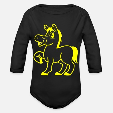 Foal foal - Organic Long-Sleeved Baby Bodysuit