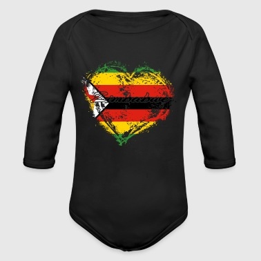 HOME ROOTS COUNTRY GIFT LOVE Zimbabwe - Organic Long Sleeve Baby Bodysuit