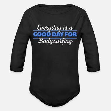 Boarders Wake boarder - This girl is a wake boarder - Organic Long-Sleeved Baby Bodysuit