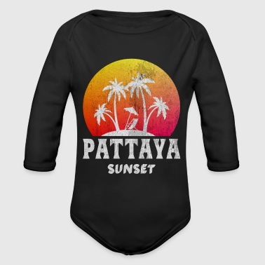 Pattaya Sunset Thailand - Organic Long Sleeve Baby Bodysuit