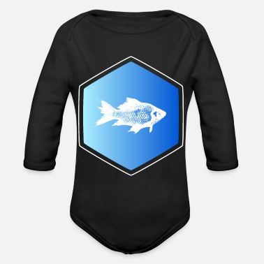 Ocean Animals ocean animal - Organic Long-Sleeved Baby Bodysuit