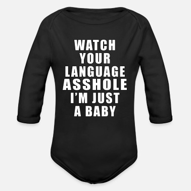 Watch Your Language - Organic Long Sleeve Baby Bodysuit