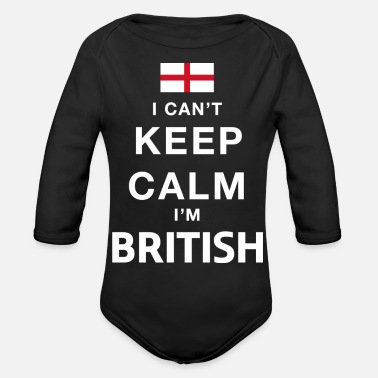 Keep calm British - Organic Long-Sleeved Baby Bodysuit