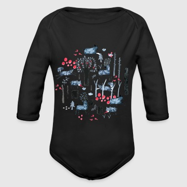Frost Frosted Forest - Organic Long Sleeve Baby Bodysuit