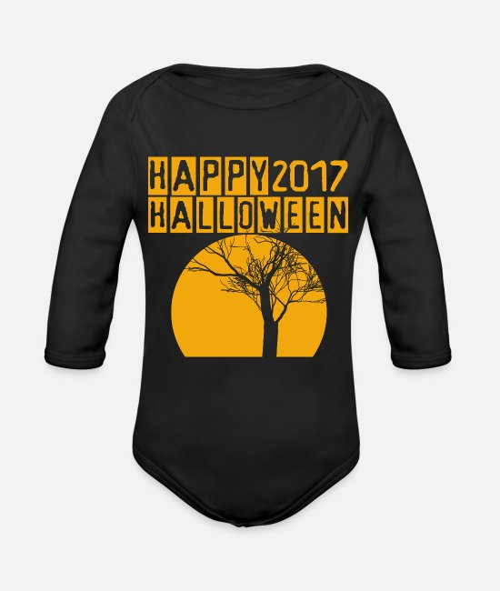 Headphones Baby One Pieces - Funny Halloween 2017 - Organic Long-Sleeved Baby Bodysuit black