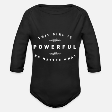Power THIS GIRL IS POWERFUL - Organic Long-Sleeved Baby Bodysuit