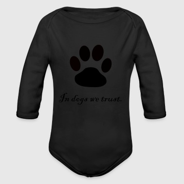 dogs paw - Organic Long Sleeve Baby Bodysuit